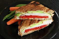 Turkey,  roasted red peppers,  avacado. Great sandwich to experiment different with (try bacon)