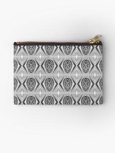 """IBTM'CIHTI"" Zipper Pouch by Asmo Turunen. #design #zipperpouch #canvaspouch #kangaspussi #meikkipussi #atcreativevisuals"