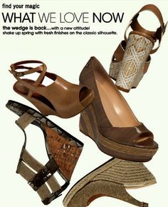 Fresh twists and patterns on the classic wedge at Macy's at CityPlace.