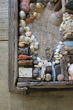 v i n t a g e beach finds collage wall hanging by Harmonicajane, $42.00
