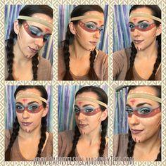 Halloween makeup, Indian warrior
