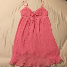 Sleepwear/Nightie Cute lace and bow detail. Adjustable straps. Never worn. Flowy and light. Peachy coral color. In Bloom Intimates & Sleepwear