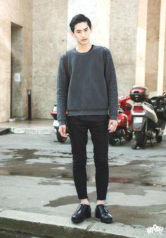 street fashion   Paris Fashion Week: Men's Spring/Summer 2015 - kim taehwan