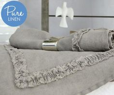 Homewares & Home Decor Online-Set 6 Ruffle Napkins Pure Linen-Home & Living