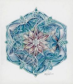 Celtic Butterfly Mandala.