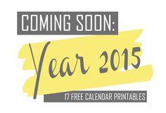 Coming Soon Year 2015 17 Free Printable Calendars Free Print Calendar Pearodie kostenlos ausdruckbare Kalender für 2015
