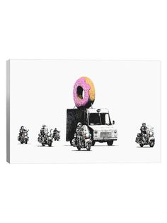 Donut Police by Banksy (Canvas) by iCanvas at Gilt
