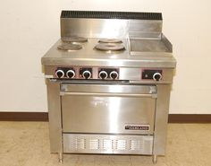 Garland 36 Commercial Electric 4 Burner Range Flattop Griddle With Oven
