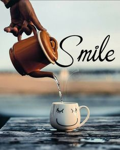Smile! It's Time for that First Cup of Coffee ☕