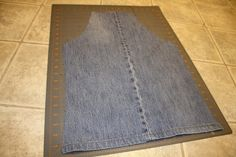 repurposed denim aprons - happy hooligans - what to do with old jeans