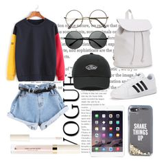 """Day in town🔺"" by sophiewhite15 ❤ liked on Polyvore featuring adidas, Aéropostale, Kate Spade, Vans and ZeroUV"