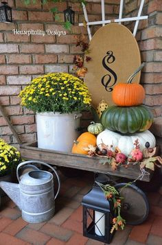 Early Fall porch ideas http://mysoulfulhome.com