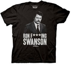 Mens Parks & Recreation Ron Fing Swanson T-shirt