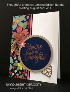 Stampin' Up! Copper Heat Embossing, Thoughtful Branches Bundle, Circle Layering Framelits, Susan Itell, stampinup