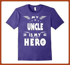 f2f048340c26c Mens Funny uncle shirt My uncle is my hero Medium Purple - Relatives and  family shirts ( Partner-Link)