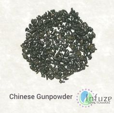 Chinese Gunpowder: Named for its gunpowder-like appearance, this green tea is known for its strong, smoky flavor and uniquely dark leaves. The full leaves are carefully selected for their quality and size, then rolled into small nuggets; allowing the tea to keep longer than other strains.
