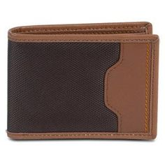 Travelon SafeID Hack-Proof Accent Deluxe Billfold Wallet w/ RFID Blocking, Brown