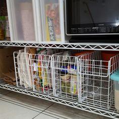 Kureha301さんの、分別ゴミ箱,資源ごみ,結束バンド,ワイヤーラティス,100均,セリア,キッチン,のお部屋写真