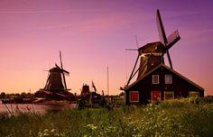 Windmühlen in Zaanse Schans (Niederlande)