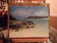 Oil painting of Exuma Cays, Bahamas