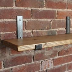 Rustic scaffolding board shelves made to order from up to Each shelf is complete with a pair of our cast iron shelf brackets. Iron Furniture, Steel Furniture, Industrial Furniture, Rustic Furniture, Cheap Furniture, Office Furniture, Scaffold Shelving, Industrial Shelving, Steel Shelf Brackets