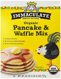 Immaculate Baking Mix, Organic Pancake and Waffle, 26.0 Ounce (Pack of 8) >>> Click image to review more details.