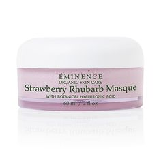 Replenish your skin's youthful appearance with our Strawberry Rhubarb Masque. The strawberries gently exfoliate while the rhubarb and vegan-friendly hyaluronic acid calm and plump, for a refreshed appearance. Retail Size: 2 oz / 60 ml Winner of Professional Moisturizing Product, Sister's Beauty Pro Awards, Hong Kong, 2010