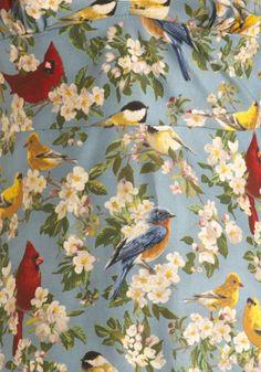 bird pattern.... vintage looking
