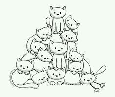 Pirâmide de gatos