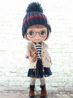 ◆Blythe Outfit◆ブライス♪モッズコート 7点セット♪NO.39_ブライス本体・眼鏡は付属しません。