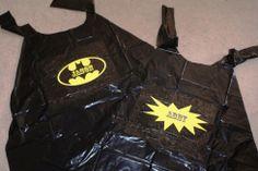 Garbage bag superhero capes