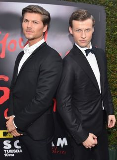 """Actors Amadeus Serafini and Connor Weil attend the MTV and Dimension TV premiere of """"Scream"""" at the Los Angeles Film Festival on June 2015 in Los Angeles, California. Scream Cast, Scream Series, Mtv Scream, Amadeus Serafini, Los Angeles Film Festival, Tv Show Casting, Event Photos, Michael Fassbender, Dream Guy"""