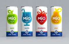 Mio carbonated milkshake #packaging