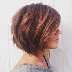 """Another shot of my favorite haircut by Katie Cantor - aka the """"Christy Bob"""" One of my most requested cuts. Lots of texture and dimension with honey blonde ombré on my chocolate brown base. Blonde Bobs, Blonde Ombre, Cut And Color, Chocolate Brown, Diy Hairstyles, New Hair, Hair Ideas, Cute Pictures, Curly Hair Styles"""