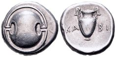 AR Stater. Greek, Boeotia, Thebes, Kabi-. magistrate. Circa 368-364 BC. 21mm, 12,09g. SNG Copenhagen 339. Good VF. Price realized (2.7.2016): 238 EUR.