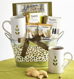 Shop winter flowers & plant gifts from to brighten even the coldest winter day. Send a winter bouquet delivery for the perfect winter gift! Sympathy Gift Baskets, Tea Gift Baskets, Sympathy Gifts, Birthday Gift Delivery, Birthday Gifts, Happy Hour Party, Tazo, Gift Bouquet, Tea Gifts
