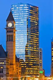 Photo of Clock Tower of the Old City Hall and a modern building in downtown Toronto at dusk, Ontario, Canada. Toronto Ontario Canada, Toronto City, Downtown Toronto, Toronto Photos, Quebec City, Old City, Kirchen, Canada Travel, Willis Tower