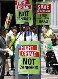 Protesters in front of parliament supporting marajuana.