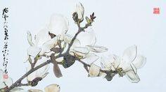 木兰•magnolia Japan Painting, Ink Painting, Chinese Painting, Chinese Art, Flower Room, Magnolias, Blossoms, Modern Art, Entertainment