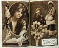 Publicity photo of Olive Thomas from Cosmo Dec 1920. She began her career as an artist's model in 1914, and moved on to the Ziegfeld Follies the following year. She is wearing the balloon costume for Midnight Frolics, the men who came to the show would pop them with their cigars revealing more of the costume. In 1916 she appeared in a few serials & silent films until 1920. She married Pickford's brother in secret in 1916. In 1920 she died from nephritis caused by accidental poisoning, aged…