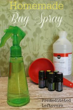 How to Make Natural Homemade Insect Repellent - Use this recipe to make homemade bug spray using a few essential oils and a bottle of witch hazel.