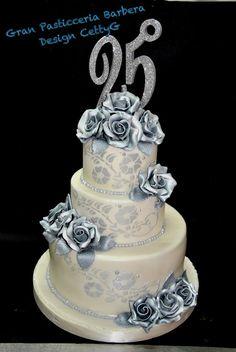 Le torte decorate di CettyG...: 25°Anniversario...