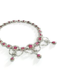 Ruby And Diamond Necklace, Ruby Necklace, Pendant Necklace, Edwardian Jewelry, Vintage Jewelry, Royal Jewelry, Ruby Jewelry, Fashion Jewelry, Bling