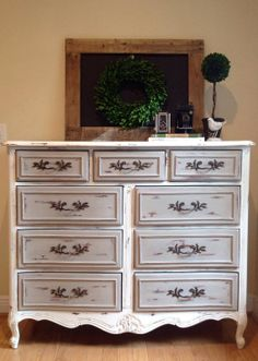 ReFinished Tall French Dresser