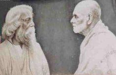 Gurudevan and Ravindranatha Tagore at Sivagiri.