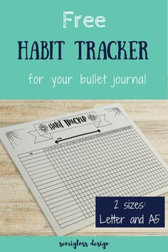 Free habit tracker for the bullet journal or other planner journals. Offered in 2 sizes: Letter and Get your free printable habit tracker today! Bullet Journal Tracker, Bullet Journal Printables, Bullet Journal Layout, Bullet Journals, Bujo, Planner Pages, Printable Planner, 2018 Planner, Planner Inserts