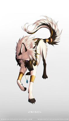 """Whats a king to a god? Art is by dNiseb Character is owned by me ^^ King of Kings, Devil of Devils Pet Anime, Anime Animals, Anime Art, Anime Wolf Drawing, Furry Drawing, Cute Animal Drawings, Cute Drawings, Wolf Drawings, Fantasy Wolf"