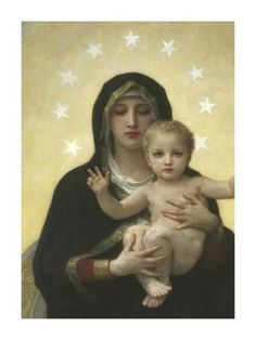 The Virgin With Angels - Detail Art Print by William Adolphe Bouguereau at Art.com