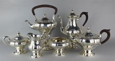 Virginia Pattern, Sterling Silver Tea Set By JE Caldwell Of Philadelphia. www.EstateSilver.com