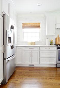 Kitchen remodel counter depth fridge